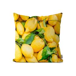 Kissenbezug, VOID (1 Stück), Zitronen Obst Italien Kissenbezug Zitronen Obst Italien Zitrusfrüchte Frucht Ur 50 cm x 50 cm