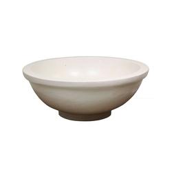 Oriental Galerie Waschbecken Waschbecken Terrazzo Creme mit Rand 40 cm (1-St), Handarbeit
