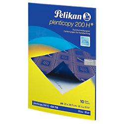 Pelikan 200H Durchschreibepapier DIN A4 28 g/m² 21 x 29,7 cm Blau 10 Blatt