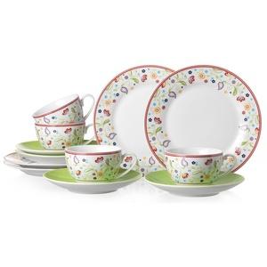 Ritzenhoff & Breker Kaffeeservice SHANTI DOPPIO, (Set, 12 tlg.), Spülmaschinengeeignet weiß Geschirr-Sets Geschirr, Porzellan Tischaccessoires Haushaltswaren