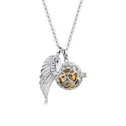 Nenalina Kette mit Anhänger Engelsflüsterer Herz Flügel (25 mm) 925 Silber