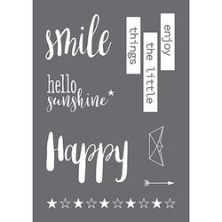 Rayher Siebdruckschablone Smile grau