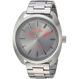 Diesel Herren Analog Quarz Uhr mit Edelstahl Armband DZ1855