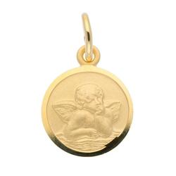 Adelia´s Kettenanhänger 333 Gold Anhänger Amor Ø 12 mm, Goldschmuck für Damen