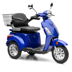 Nova Motors Bendi blau elektro Dreirad-Motorroller Elektromobil Seniorenmobil Modell 2020 - Standard - 20 km/h