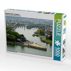 Deutsches Eck in Koblenz Lege-Größe 64 x 48 cm Foto-Puzzle Bild von Thomas Polske Puzzle