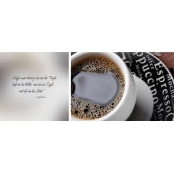 queence Leinwandbild schwarzer Kaffee, (Set), 2er-Set