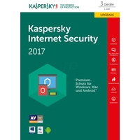Kaspersky Lab Internet Security 2017 3 Geräte ESD DE Win Mac Android iOS