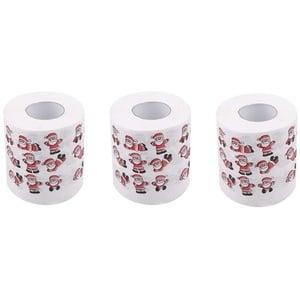 Toilettenpapier Weihnachten Rollenpapier 3 lagig|Motiv Farbe Toilettenpapier|Weihnachts-Toilettenpapier| Serviette Toilettenpapier starke Wasseraufnahme Reißfestigkeit Es Ist Gut(1,3,6)