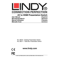 Lindy Conference Table Box Av-Hdmi Switc