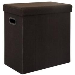 Faltbarer Wäschekorb 70L Wäschetruhe mit Deckel Wäschebox Wäschesammler Leinen
