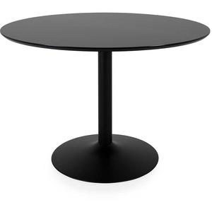 Esstisch in Schwarz rund
