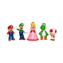 Super Mario Actionfigur Super Mario Figuren 6,5cm 5er Set