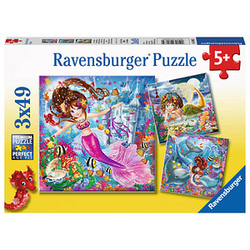 Ravensburger Bezaubernde Meerjungfrauen Puzzle 3x 49 Teile