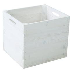Kistenkolli Altes Land Allzweckkiste Holzkiste weiß passend für Kallax und Expeditregal (1er Set)