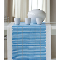 APELT Tischläufer 3033 Loft Bambusmatte (1-tlg) blau