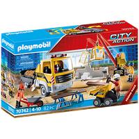 Playmobil City Action Baustelle mit Kipplaster 70742