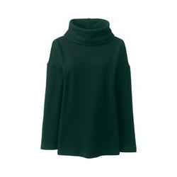 Wollmix-Pullover mit weitem Kragen, Damen, Größe: S Normal, Grün, by Lands' End, Fichtenhain - S - Fichtenhain