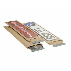 Wellpappe-Versandtasche W01.K1 für Kfz-Kennzeichen und Schilder 145x600x-55mm