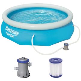 BESTWAY Fast Set Pool Set 305 x 76 cm inkl. Filterpumpe