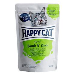 HAPPY CAT Meat in Sauce Lamb & Liver (Lamm & Leber) 85 g