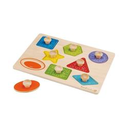 EverEarth® Steckpuzzle Formen- und Holzpuzzle, Puzzleteile