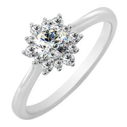 Goldener Verlobungsring mit Diamanten Condeh
