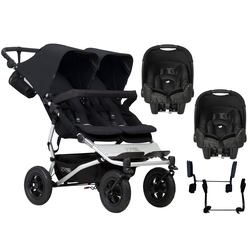 Mountain Buggy Duet V3 Double (Gemm) Travel System - Black
