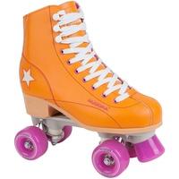 Hudora Disco Rollerskates Unisex Rollschuh, Orange/Lila, 35,