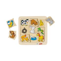 goki Steckpuzzle Holzpuzzle Wer frisst was?, Puzzleteile