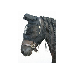 Harrys Horse Fliegennetz Gesichtsmaske Flyshield, schwarz, Größe: L