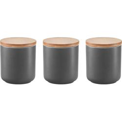 Zeller Present Gewürzbehälter, Keramik, Bambus, (Set, 3-tlg)
