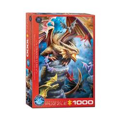 EUROGRAPHICS Puzzle Drachen Clan von Anne Stokes 1000-Teile Puzzle, Puzzleteile bunt