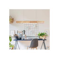 ZMH Pendelleuchte LED Hängeleuchte 35W 3000K Holz Warmweiße Licht 120cm Pendellampe für Wohnzimmer Küche Arbeitszimmer