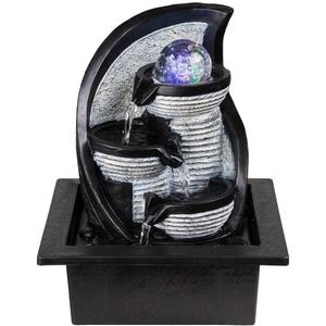 Hochwertiger RGB LED Tisch Brunnen RGB Farbwechsel Beleuchtung Stand Wasser Spiel Kugel Globo 93022