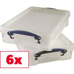 Really Useful Box Aufbewahrungsbox 4C Transparent 4l (B x H x T) 390 x 88 x 240mm 6St.