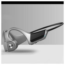 TOPMELON Bluetooth-Kopfhörer mit Knochenleitung Sport-Kopfhörer (Bluetooth) silberfarben