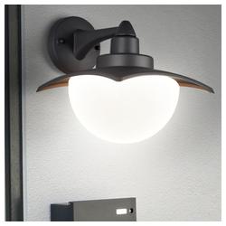 etc-shop LED Laterne, Außen Stand Leuchte ALU Park Beleuchtung Wege Wand Laterne Hof Lampe anthrazit