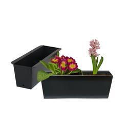BigDean Blumenkasten Pflanzkasten Palette Paletten Pflanzkübel 35,5 x 12,5 x 12 cm Palettenkasten (2 Stück)