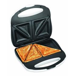 Elta Sandwichmaker ST-101, 750 W, Sandwichtoaster Sandwich Toaster Maker Grill weiß