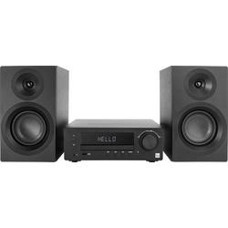 Dual DAB-MS 170 Stereoanlage Bluetooth®, CD, DAB+, UKW, USB, AUX, Inkl. Lautsprecherbox 2 x 25W Sch