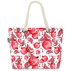VOID Strandtasche (1-tlg), Granatäpfel Beach Bag Obst Früchte Essen Vitamine Kochen Äpfel Pflanzen gesund