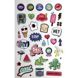 Glorex Sticker-Buch Retro Pop Art