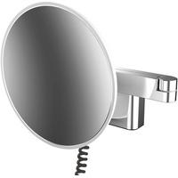 Emco evo Rasier- und Kosmetikspiegel Ø 209 mm, 2-armig, rund, Stecker