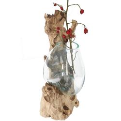 Guru-Shop Dekovase Wandvase, Wurzelholz Vase, exotische Vase für.. 17 cm x 45 cm x 17 cm