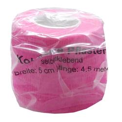 Kohäsive Pflaster Fixierbinden Tape Pflasterverbände Breite 5 cm Länge 4,5 m Rosa