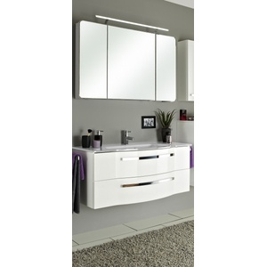 Badezimmerset Fokus 4005 weiß PELIPAL Set Mittelachse (B 120 cm) PELIPAL