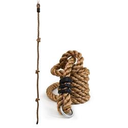 LittleTom Kletterseil Kinder Kletterseil Outdoor Kletter-Tau Knoten-Seil 195 x 2,5 cm