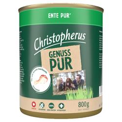 (4,85 EUR/kg) Christopherus Pur Ente 800 g - 6 Stück
