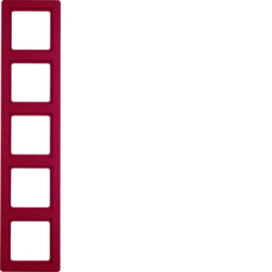 Berker 10156062 ,Rahmen 5fach Q.1 rot samt